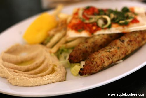 Chicken Kebab and Pita Bread