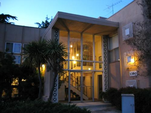 San Jose Apartment Building at night