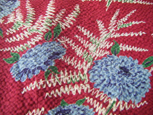 Vintage Fabric 30's seersucker