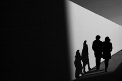 (Nocturnales) Tags: street light sunset shadow bw paris france museum louvre lumire streetphotography ombre rue mikaelmarguerie