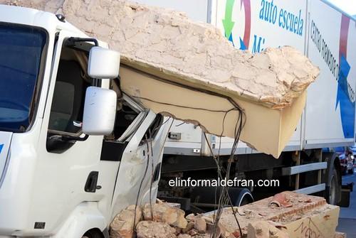 Derrumbe del Arco de la Plaza de la Victoria. 22.10.2009