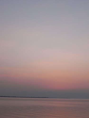 琵琶湖の夕焼け-11