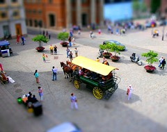 Stockholm, Sweden - June 2009 (kexarcho) Tags: city trip travel vacation urban horse toy miniature coach europa europe carriage sweden stockholm capital citylife eu europeanunion urbanlandscape urbanlife skandinavia faketiltshift tiltshifteffect  europeancapital   miniatureeffect      tiltshiftmaker