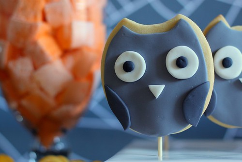 owl cookies and homemade marshmallow