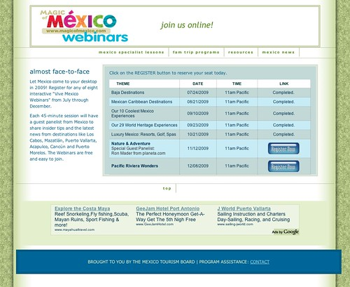 Nature and Adventure Mexico Webinar (20091109)
