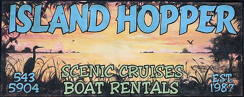Island Hopper Sign