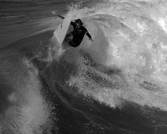 snap back black and white (jst images) Tags: california ca blackandwhite bw seascape beach surfer wave surfing orangecounty oc huntingtonbeach hb feelsgood blackwhitephotos justimages blackandwhiteseascape thisfeelsgood jasontockey jstimages blackandwhitesurfing
