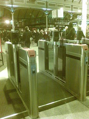 Ticket barriers at Newcastle Rail Station