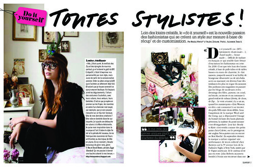 French Glamor: do it yourself article pg 1