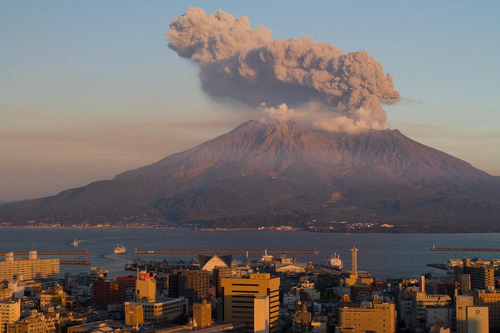 Sakurajima at Sunset