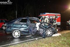 Schwerer Unfall B260 Eltville 23.11.09