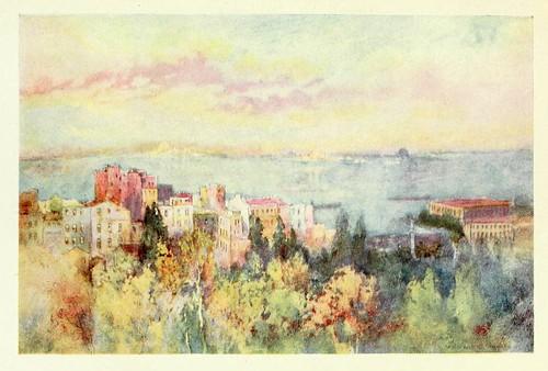 023- El Cuerno de Oro al amanecer- Constantinople painted by Warwick Goble (1906)