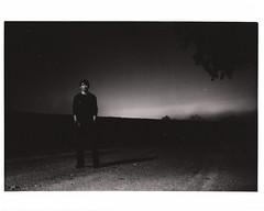 It Was A Dark And Stormy Night. (The Vision Beautiful) Tags: longexposure portrait blackandwhite bw guy film fog night dark stormy daltonwoody