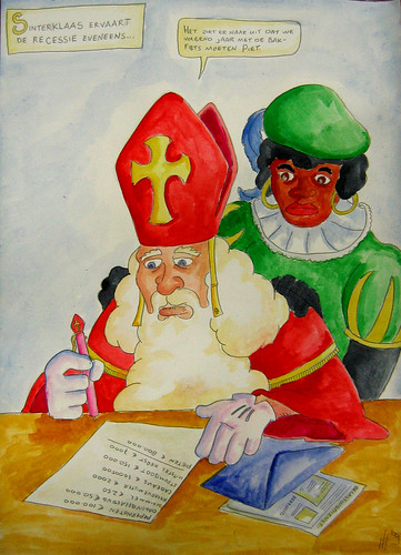 Sinterklaas drawing / painting I made for my inlaws...