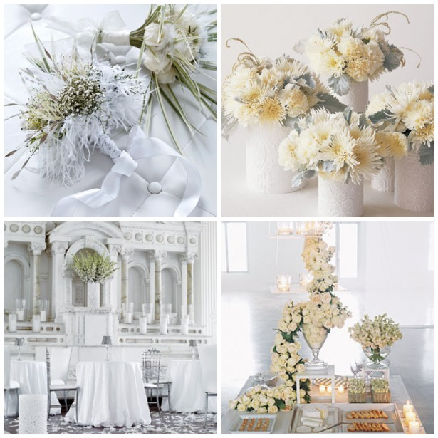 Winter weddings aren 39t just about white blue or silver if you 39re not