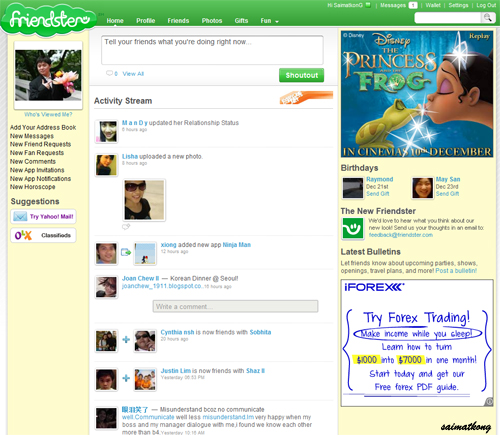 New Friendster Layaout