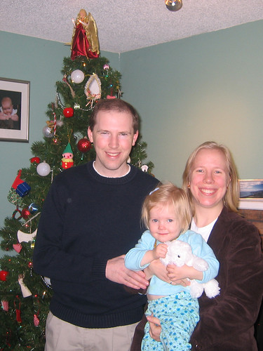 Family photo in front of the tree, 2006