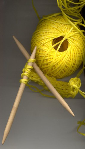 knitting with twine