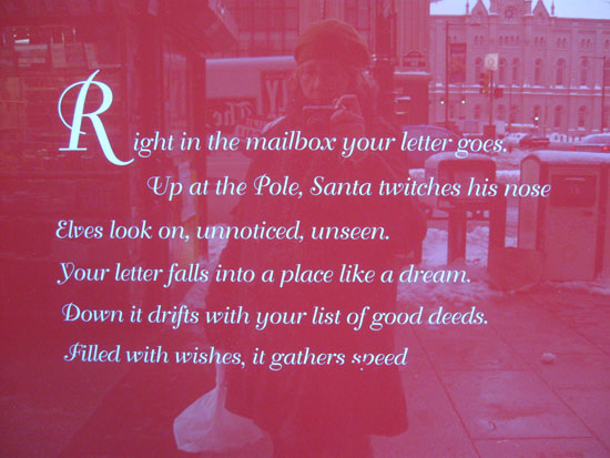 Macy's - Window 1 - Poem (Click to enlarge)