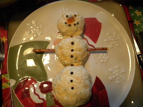 Cheeseball Snowman