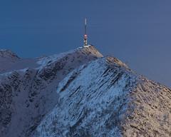 the obvious (Thorir Vidar) Tags: winter mountain snow norway night vinter moonlight mast bergen antenna ulriken natt snø 2010 sn thorir100102889678adjust