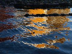 Blgjer (dese) Tags: christmas blue winter sea reflection colors sunshine reflections coast photo vinter december colours foto coastal fjord boathouse desember 2009 fjre st sj romjula kyst fusa boathouses dese naust romjul december29 strandvik bjrnefjorden fargar naustrekkjo desefoto blgjer