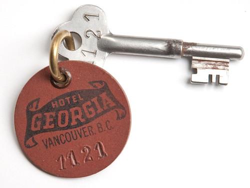 Hotel Georgia original key - May 7, 1927