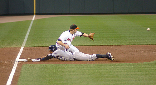Alex Rodriguez Slides Past Mark Reynolds