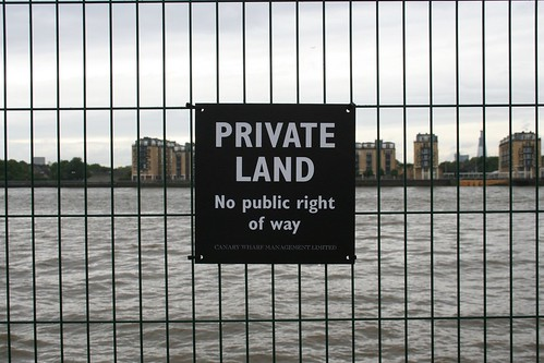 "Presumably the land you are on, not the river the sign is ""protecting""?"