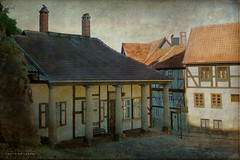 two different histories (silviaON) Tags: outdoor city corner harz germany quedlinburg textured kerstinfrankart flypaper