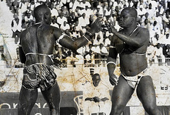 la Lutte Sénégalaise_XXII. / Senegalese wrestling (lilion (Beatrix Jourdan)) Tags: africa men blackwhite action traditions competition warriors senegal dakar elton hl traditionalsport pakala pentaxk10d laamb lilion parcelles senegalesewrestling ennoiretblanc luttesénégalaise africanwrestlers guédiawaye jmeszolybeatrix ballagaye cheikhfall yékini beatrixjourdan mbayegueye modoulo toubaboudior yakhyadiop lacdeguiers2 papeansoucissé thionkesyl batlingsiki abdoulayediouf lionsdelateranga lacdeguiersii boyniang2 taphatine eumeusene dembagueye boynaar aïcambeur zalelô