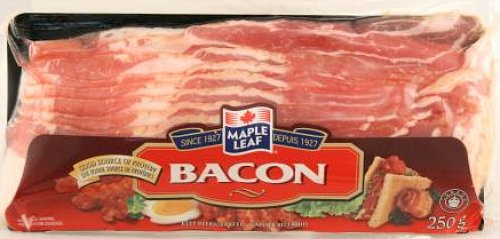 The Bacon Label Gallery: Maple Leaf Bacon, 250 g (1/2 lb)
