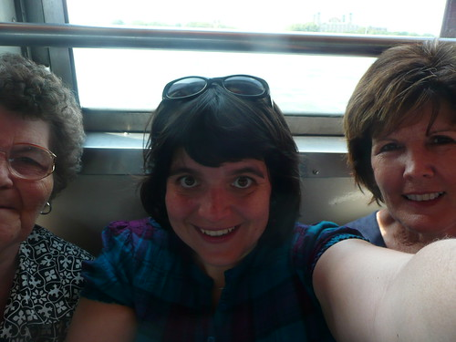 grandma, me and kay- ferry to statue of liberty