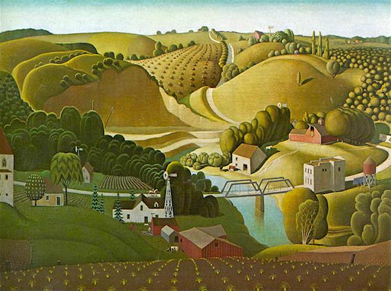 Stone City by Grant Wood