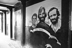 Alley Cats (peterkelly) Tags: bw music ontario canada men brick art musicians digital painting three alley mural canadian northamerica theband stratford janisjoplin stratfordontario revols