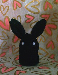 bunny black (front-hearts bg )