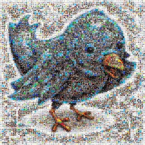 Twitter Bird Mosaic