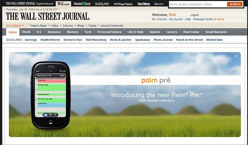 Palm Pre in WSJ