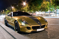 Ferrari 599 Hamann Gold (Tex Mex (alexandre-besancon.com)) Tags: street paris car night gold insane crazy amazing superb extreme champs ferrari saudi arabia carbon tuning incredible elysees supercar magnificent spotting fou gtb ksa hamann tuned 599 fiorano