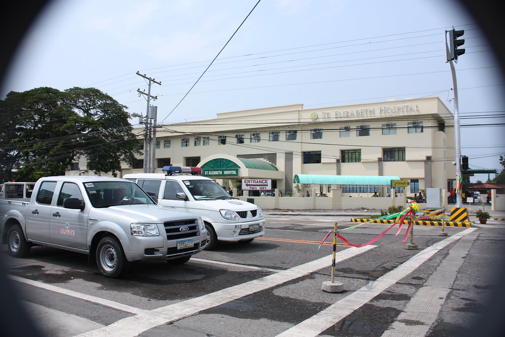 St. Elizabeth Hospital, shot from the ceremony area for the inauguration of the National Highway Traffic Lights Signal Systems.