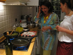 Stefy at Work in the Cucina