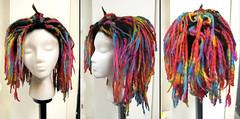 Spraezler, yarn wig detail