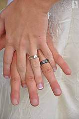 Hands with wedding rings (Kyle Tomita) Tags: wedding holding hands fingers band ring diamond rings locked intertwined