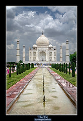 The Taj Mahal (Suvrangshu) Tags: travel agra unescoworldheritagesite mausoleum canon5d wonderoftheworld mughalarchitecture thetajmahal mumtazmahal mughalemperorshahjahan platinumheartaward suvghosh suvrangshughoshphotography marblemausoleum