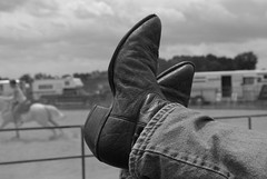 Kickin Back (glory_be_me) Tags: relax cowboy boots kickinback futab feetuptakeabreak