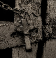 Locked to the Damned (LHG Creative Photography) Tags: signs gate cross religion crucifix locked barred