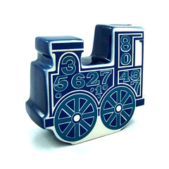 Carlton ware train moneybox (Wooden donkey) Tags: blue money train coin box bank 1960s moneybox carltonware
