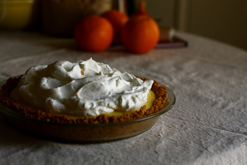 No-Bake Orange and Cream Pie