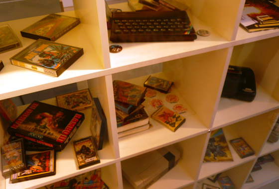 Shelves full of retro goodness