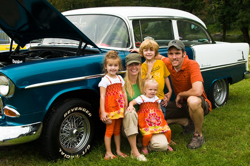 Family at the Rowlesburg Car Show